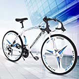 Adult Mountain Bike, 26in Folding Mountain Bike 21 Speed ​​Gears Dual Disc Brakes Mountain Bicycle for Men and Women Outdoor Racing Cycling(Unisex Outdoor Bicycle)-【U.S. Shipping】