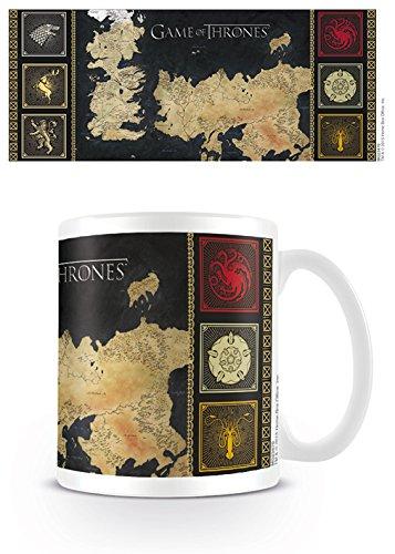 GB eye Taza Game of Thrones Map, Cerámica, Unico