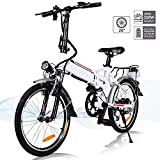 Angotrade 20 inch Folding Electric Bike 21 Speed 36V 8A Lithium Battery Mountain Electric Bicycle...