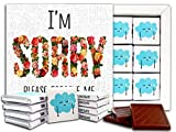 I'M SORRY Chocolate Gift Set – 1 box, 5x5 inches – (Flowers Prime)