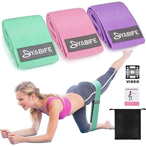 Yabife Elastici Fitness con Video Tutorial, Bande Elastiche con 3 Livelli di Resistenza, Fasce...