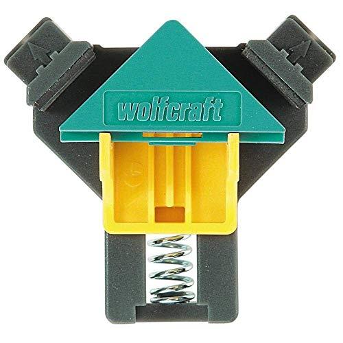 wolfcraft ES 22 Eckenspanner 3051000 Set – 2 Winkelspanner zur Fixierung von Brettern & Rahmen im 90° Winkel – Eckspanner für Brettstärken von 10-22mm