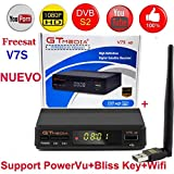 LFJNET Exquisite Freesat V7S HD FTA Digital Satellite TV Receiver DVB-S2/S Support BissKey 1080P US Plug