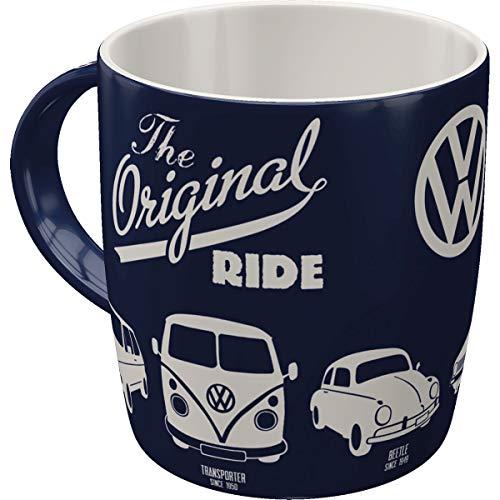 Nostalgic-Art - Volkswagen Retro Kaffee-Becher - VW - The Original Ride - Bulli T1, Beetle & Golf,...