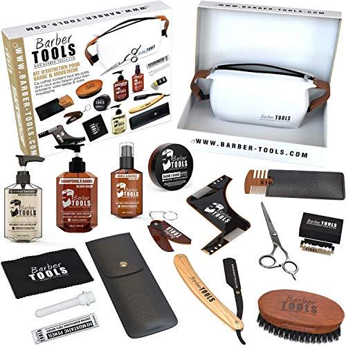 ✮ BARBER TOOLS ✮ Kit/Set/Cofanetto per la cura e manutenzione della barba e radersi | Cosmetici Made in Francia
