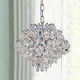 Bestier Modern Pendant Chandelier Crystal Raindrop Lighting Ceiling Light Fixture Lamp for Dining Room Bathroom Bedroom Livingroom 4 G9 Bulbs Required D11 in x H12 in
