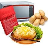 Tvoip 3 Pack of Microwave Potato Cooker Bag,Baked Potato Microwave Baking Bag,Potato Express Pouch, Perfect Potatoes Just in 4 Minutes Red