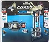 Coast LED Headlamp and Flashlight Combo Gift Set, Waterproof, Super Bright LEDs