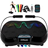 FITPULSE Classic Vibration Plate Exercise Machine - Vibration Platform Machine Vibrating Platform Body Vibration Machine Vibrating Machine Vibration Plates Vibrating Plate Black Exercise Plates