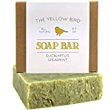 Eucalyptus Spearmint Soap Bar - Artisan Handmade Soap - Natural and Organic Ingredients - Moisturizing Wash for Face, Body, and Hands. Vegan and Paraben Free