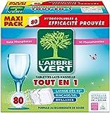 L'arbre vert Tablettes Lave-Vaisselle Hydrosolubles tout en 1 80 Doses Nouveau