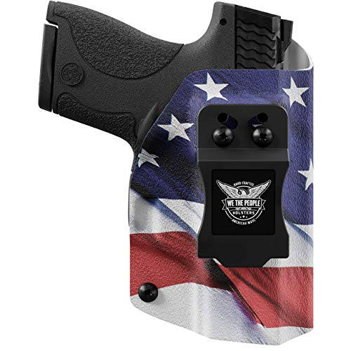 We The People - American Flag Right Hand Inside Waistband Concealed Carry Kydex IWB Holster Compatible with Smith & Wesson M&P Shield / M2.0 9mm/.40 Gun