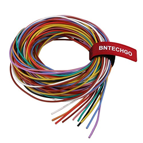 BNTECHGO 20 Gauge Silicone Wire Kit 10 Color Each 10 ft Flexible 20 AWG Stranded Tinned Copper Wire