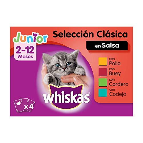 Whiskas Comida Húmeda para Gatos Junior Selección Carnes e