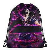 JHUIK Drawstring Bag Backpack,Negro Clo-Ver Mochila con cordón Mochila Mochila Bolsa de Deporte Deportes Unisex