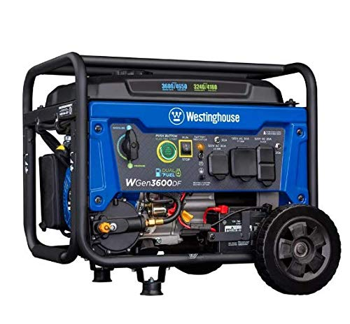 Westinghouse WGen3600DF Dual Fuel (Gas and Propane) Electric...