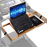 Ollieroo Treadmill Desk Attachment, Treadmill Laptop Holder, Treadmill Laptop Stand, Treadmill Laptop Desk, Treadmill Laptop Shelf on Treadmill Workstation - Detachable Treadmill Desk