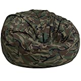 Emma + Oliver Oversized Camouflage Kids Bean Bag Chair