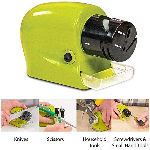 CLOUDTAIL CHOICE Electric Knife Sharpener Multi-Functional Motorized Knife Blade Sharpener Home Kitchen Knives Sharpening Tool