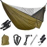 Uponer Camping Hamac Moustiquaire en Nylon Parachute portatif Ultra-léger de Voyage avec Câbles de Voyage et...
