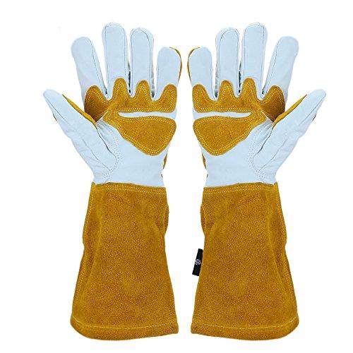 Gartenhandschuhe aus Leder, Rosen-Handschuhe, für Damen und Herren
