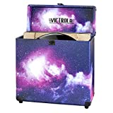 Victrola Vintage Vinyl Record Storage Carrying Case for 30+ Records, Galaxy Edition