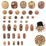 GOLRISEN 400 PCS Perles en Bois Imprimées de Diiférentes Formes...