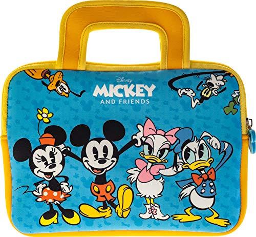 """Pebble Gear Disney Kinder Tasche Mickey and Friends universell einsetzbare Neopren Tragetasche, Mickey and Friends-Motiv, für 7"""" Tablets (Fire 7 Kids Edition) robuster Reißverschluss"""