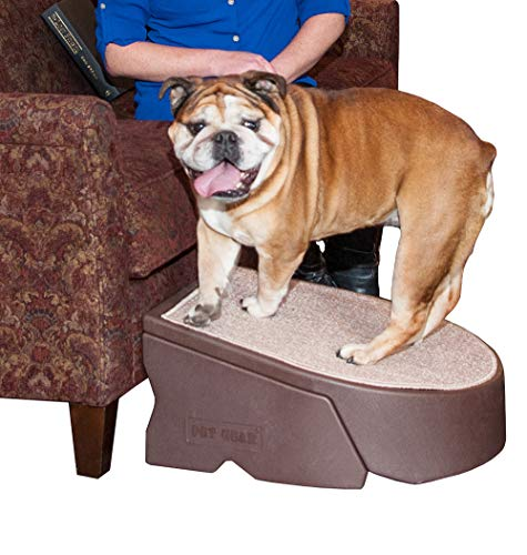 Pet Gear Stramp Stair and Ramp Combination, Dog/Cat Easy Step, Lightweight/Portable, Sturdy, Extra Wide, Gentler Sloped