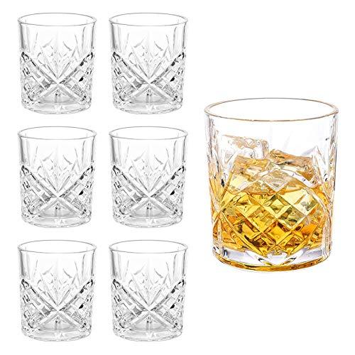 JOLIGAEA Set di 6 Pezzi, 300 ml, Bicchieri Whisky, Bicchiere Cocktail Cristallo, Bicchieri da Whisky Gles, Natale, Festa Del Pap, Fidanzato, Bella Confezione Regalo Set Regalo(B)