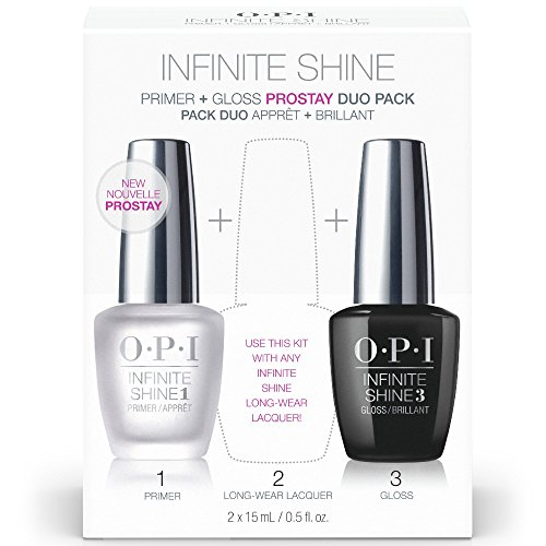 OPI Nail Polish Base Coat Primer & Gloss Top Coat, Infinite Shine Duo Pack, 0.5 Fl Oz each bottle