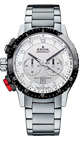 EDOX Unisex-Armbanduhr EDOX CHRONORALLY 1 Analog Quarz Edelstahl 10305 3NRM AN