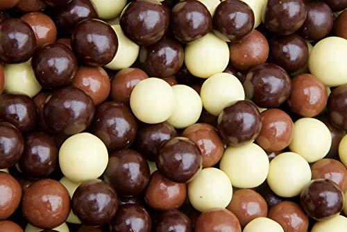 Chocolate Covered Espresso Beans Blend - White, Milk & Dark Chocolate Candy, 1 Lb