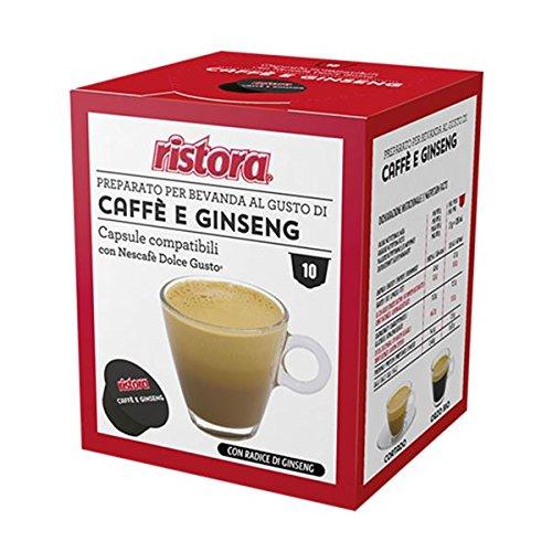 160 Cialde Capsule Compatibili Dolce Gusto Ristora Caffe' e Ginseng Originali