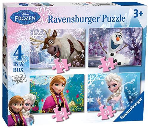 Ravensburger Puzzle Frozen, 12,16,20 e 24 Pezzi, 4 Puzzle in a Box , Per Bambini a Partire dai 3...