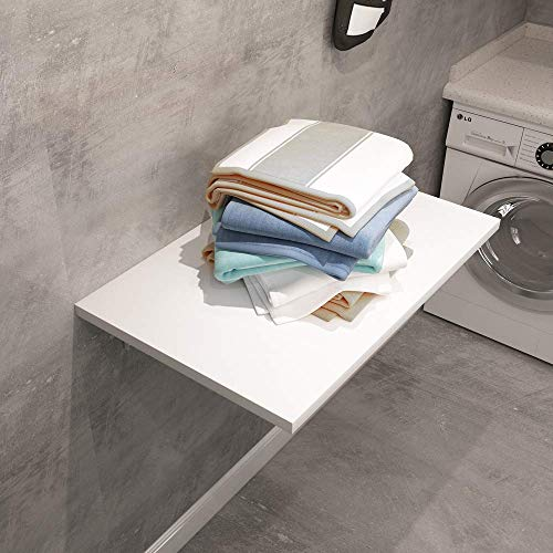 Need Small Fold Down Table Wall Mounted Heavy Duty Small Folding Wall Table Length 30 inches Width 20 inches Perfect Addition to Laundry Room/Home Bar/Kitchen & Dining Room AC15DW(7650)