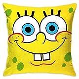 LIUYAN Pillow Cover Cushion Cover Cartoon Spongebob Squarepants Decorative Pillow Case Sofa Seat Car Pillowcase Soft 18x18 Inch