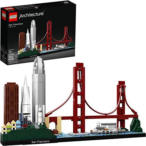 LEGO Architecture Skyline Collection 21043 San Francisco Building Kit includes Alcatraz model, Golden Gate Bridge and other San Francisco architectural landmarks (565 Pieces)