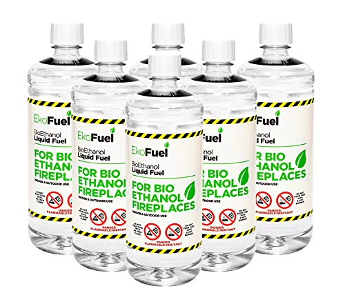 6 litres Premium Bioethanol Fuel for Fires, Free Next Business Working Day, 1 Hour ETA Delivery to Mainland UK for Orders Placed Before 3pm. 9,000 Ebay Reviews. (6L)