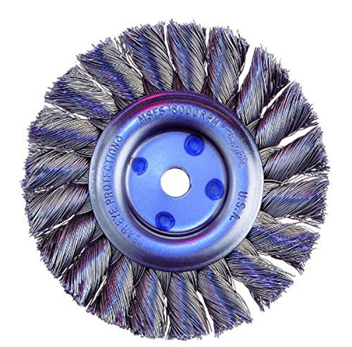 Osborn 00026104SP 26104Sp Knotted Wire Wheel Brush, Carbon Steel, 0.014'
