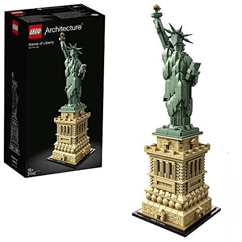LEGO 21042 Architecture Freiheitsstatue, Modell zum Bauen, New York Souvenir, Geschenkidee für...