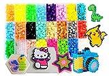 Perles à Repasser-4500 Perles 5mm 24 couleurs (4 brille dans le noir)3...