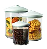 FoodSaver 3 Barattoli Tondi da 0.7 - 1.4 e 2.36 Litri, per Macchine per Sottovuoto Alimentare