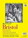 Strathmore 342-109 300 Series Bristol Vellum Pad, 9'x12', Tape Bound 20 Sheets