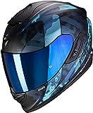 SCORPION 14-286-158-03 Casque Moto, Noir/Bleu, S