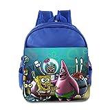 Kids Spongebob Squarepants School Backpack Fashion Baby Boys Girls School Bags RoyalBlue