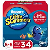 Huggies Little Swimmers Swim Diapers, Size 5-6 Large, 34 Count (2 Packs of 17)