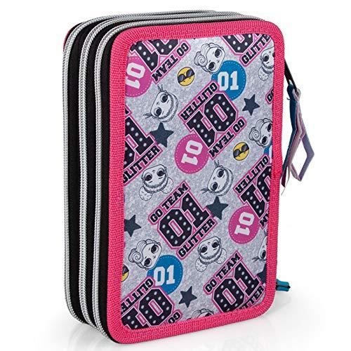 Image 2 - Lol Surprise 92424 Trousse triple rembourrée, 44 accessoires scolaires, 20 cm