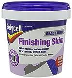 Polycell 20218 1 L Ready Mixed Tub Finishing Skim Polyfilla - Grey