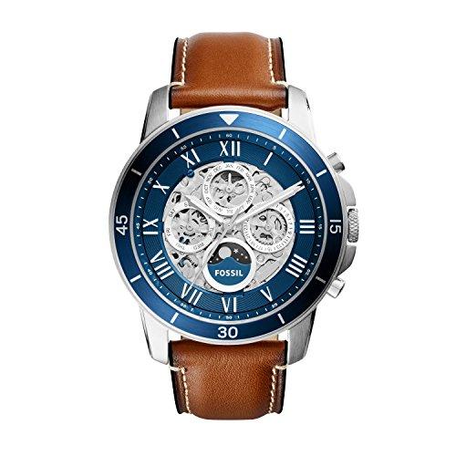 Fossil Herren analog Automatik Uhr mit Leder Armband ME3140